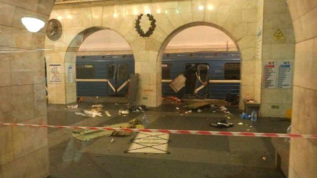 Daños causados por la explosión.