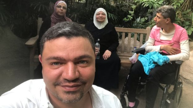 Ghani with his family