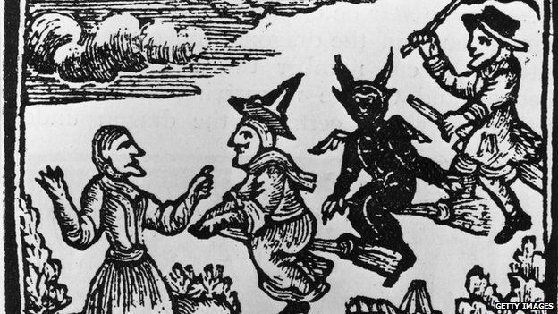 Witches woodcut