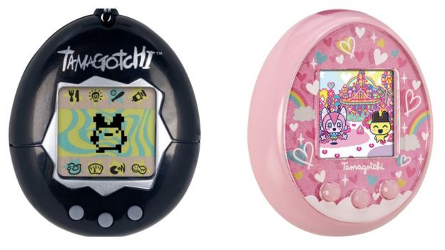 Original model of Tamagotchi and the new Tamagotchi On