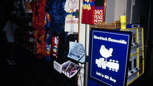 Woodstock memorabilia stand
