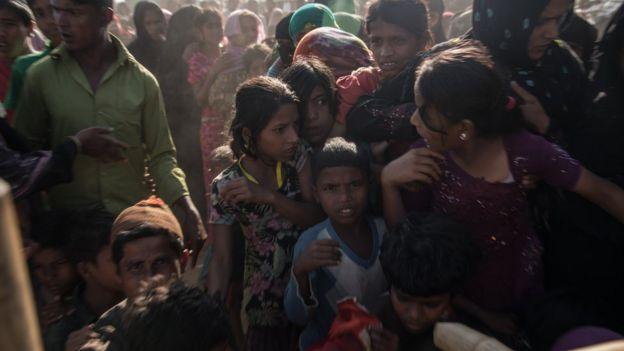 在孟加拉的羅興亞人