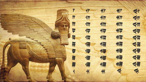 Así escribían los números los babilonios.