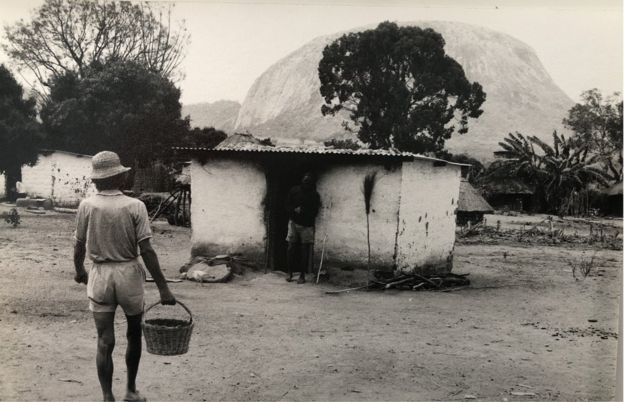 John Bradburne seen near his home in Mutemwa