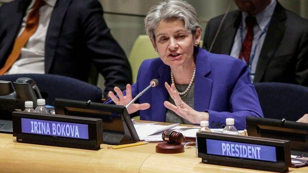 A diretora-geral da Unesco, Irina Bokova