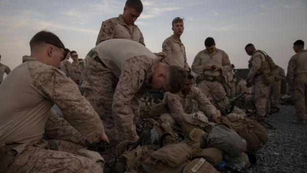 US Marines assigned to the Special Purpose Marine Air-Ground Task Force-Crisis Response, Kuwait, 31 December