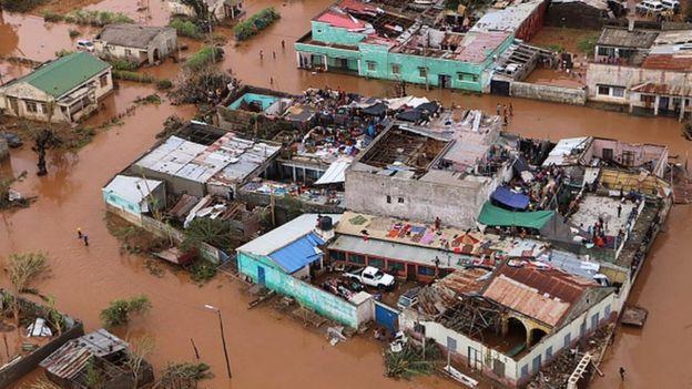 Casas devastadas