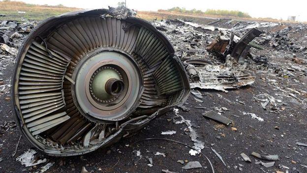 Restos del MH17.