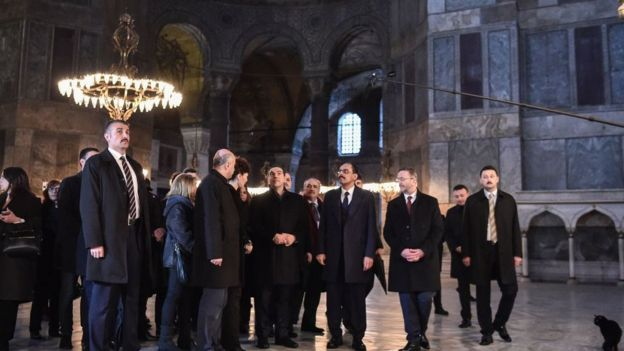 Tsipras'ın Ayasofya ziyareti
