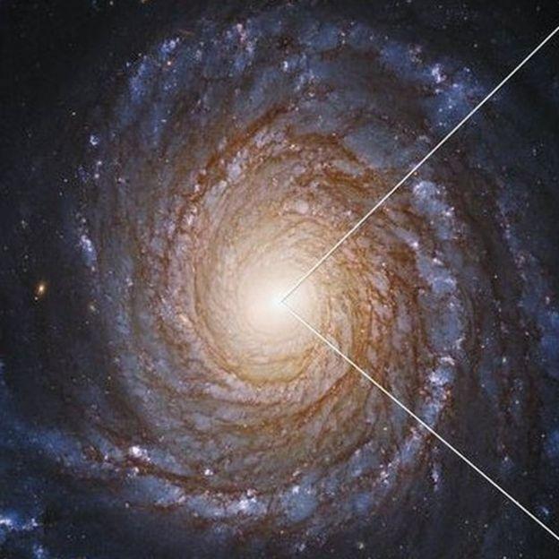 Imagen de la galaxia NGC 3147 captada por el Hubble.