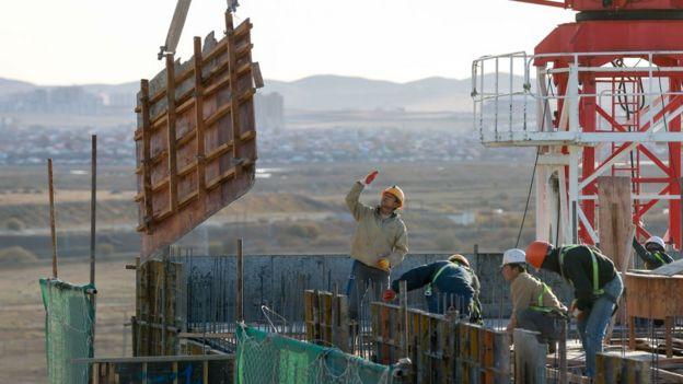 Trabajador norcoreano en Mongolia.