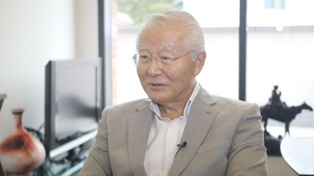 BBC 코리아와 인터뷰 하는 손정도 목사의 장손자 손명원