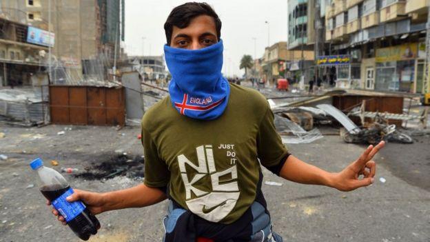 یک معترض در نجف