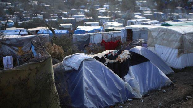 مخيم موريا في لسبوس في اليونان