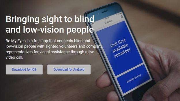 """""""帮我看一眼""""(Be my eyes) App"""