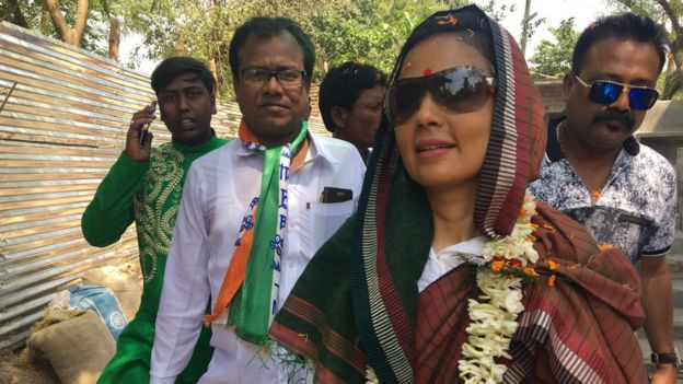 Mahua Moitra campaigns in West Bengal