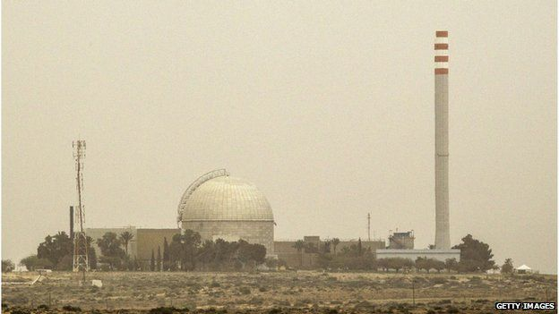 The Dimona nuclear installation in the Negev desert