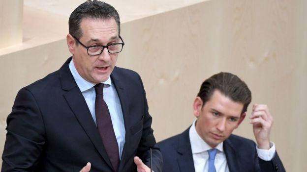 El nuevo vicecanciller austríaco, Heinz-Christian Strache