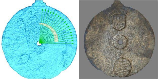 Imagem do laser no astrolábio