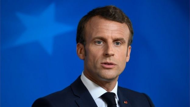 Retrato de Emmanuel Macron, presidente da França