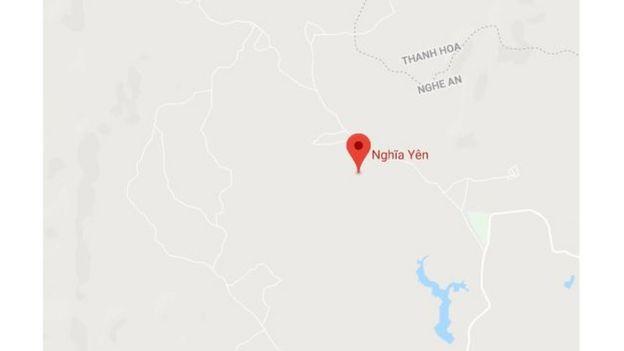 Máy bay rơi tại làng Dừa, xã Nghĩa Yên, huyện Nghĩa Đàn, Nghệ An