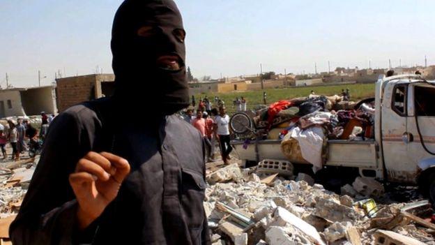 Un combatiente de Estado Islámico en Siria, en septiembre de 2014.