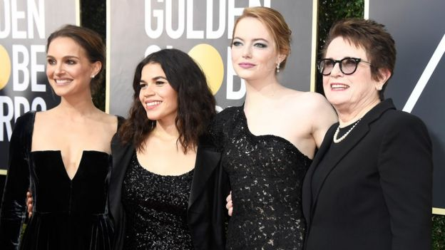 Natalie Portman, America Ferrera, Emma Stone y Billie Jean King