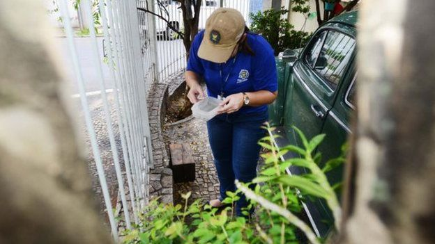 Servidor em Campinas trabalhando em combate à dengue