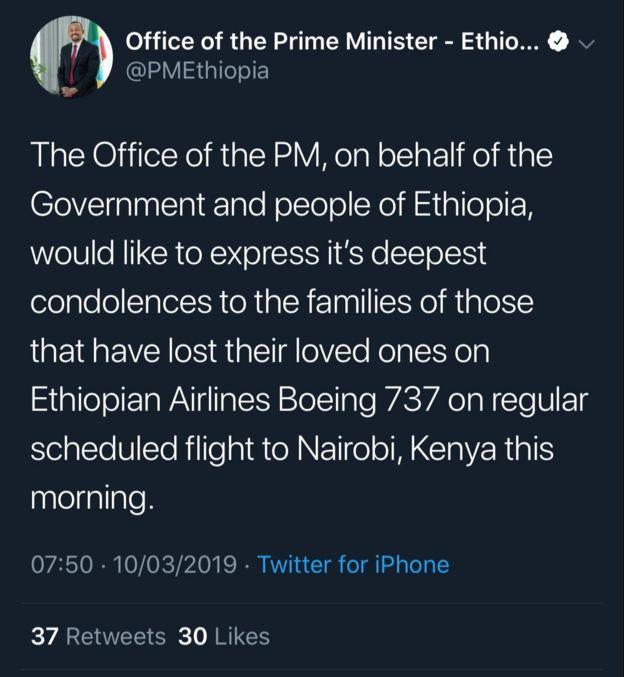 Uraia wa waliokufa kwenye ajali ya ndege ya Ethiopian
