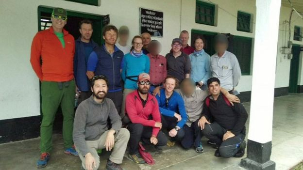 Climbing expedition group