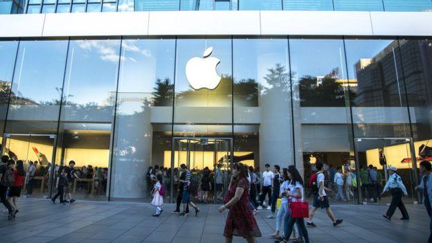 loja da Apple em registro de 2017