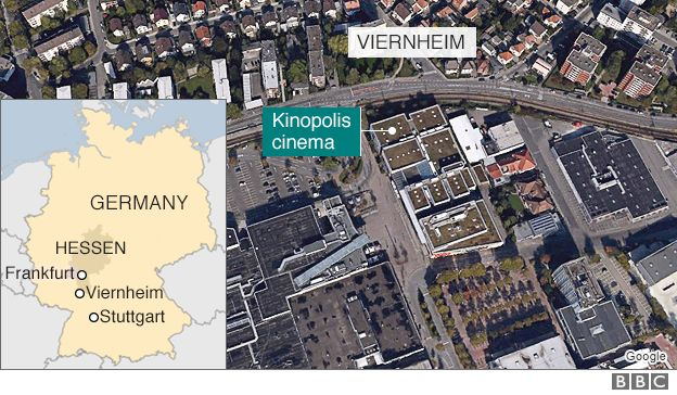 Map Of Viernheim Germany.German Viernheim Cinema Complex Attacker Shot Dead Bbc News