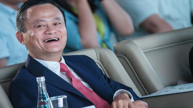 f0d95e8aa Five things about Alibaba's Jack Ma - BBC News
