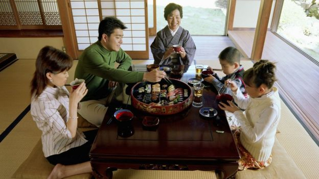 Familia en Japón