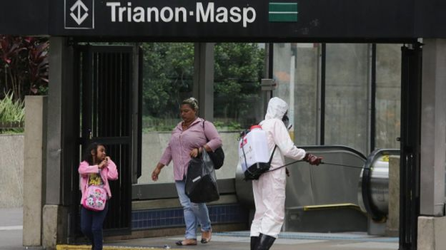 ضدعفونی مترو شهر سائوپائولو