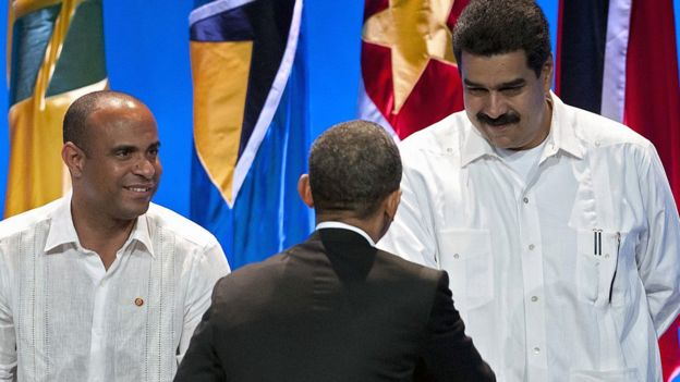 Obama y Maduro