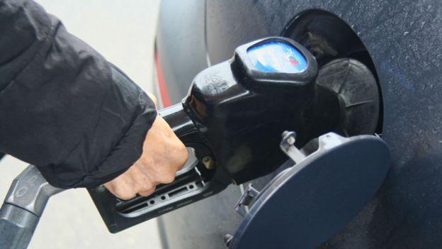 Un surtidor de gasolina.