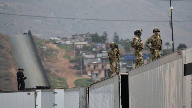 Guardia Nacional en la frontera.