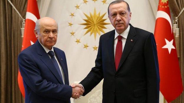 MHP Genel Başkanı Devlet Bahçeli ve Cumhurbaşkanı Recep Tayyip Erdoğan
