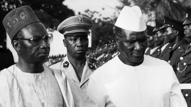 Le Président de la Guinée, Ahmed Sékou Touré et son homologue gambien Sir Dawda Jawara