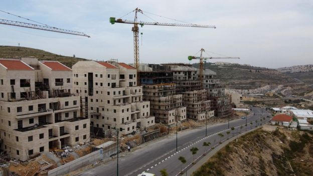 Строительство еврейского поселения на Западном берегу