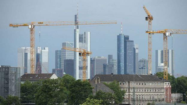 Frankfurt - the central financial district