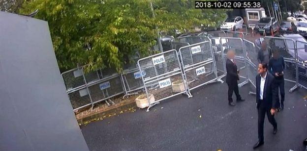 CCTV di Gedung Konsulat Arab Saudi di Istanbul