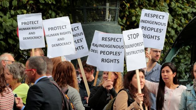 Protesto contra Temer na Noruega