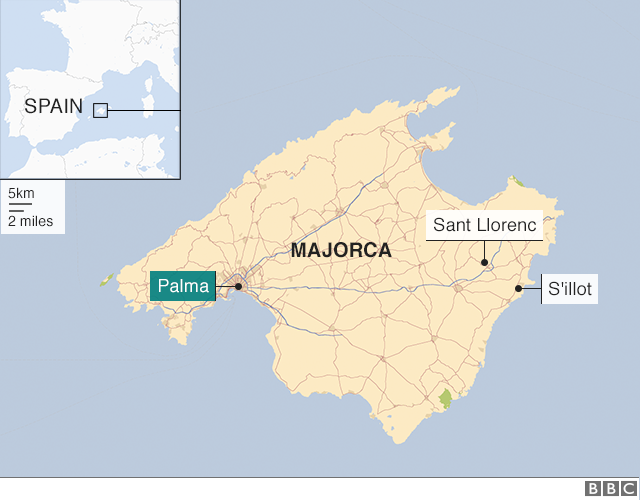 Majorca Flash Flood Kills At Least 10 On Spanish Island Bbc News