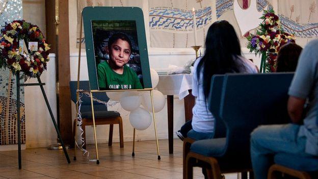 Funeral por Gabriel Fernandez, junio de 2013, en Sylmar, California