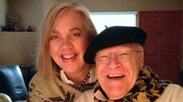 David Huddleston with his wife Sarah Koeppe