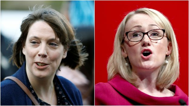 Jess Phillips (l) and Rebecca Long-Bailey (r)