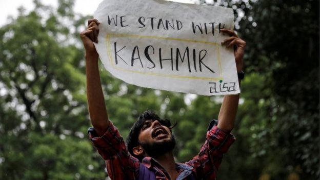 Protesta por Cachemira