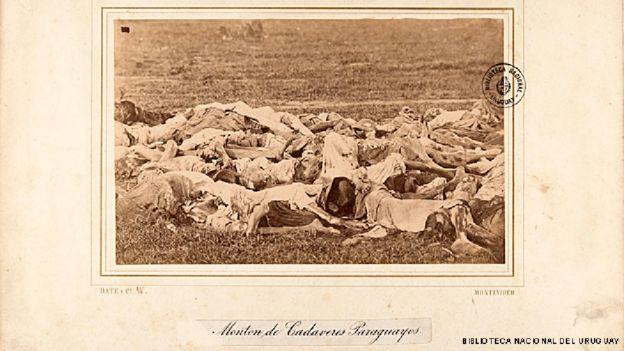 Cadáveres de paraguaios mortos na Guerra do Paraguai